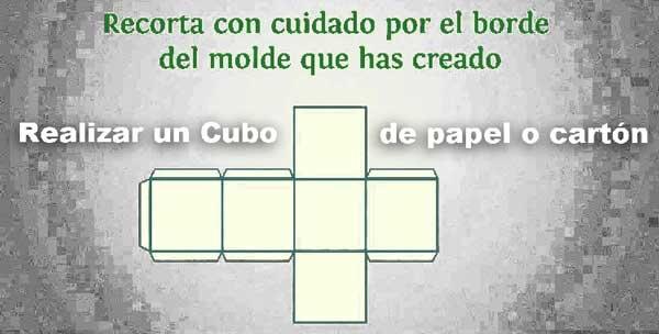 Cómo realizar un cubo de papel o cartulina