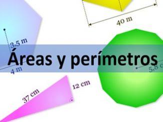 formulario areas y perímetros