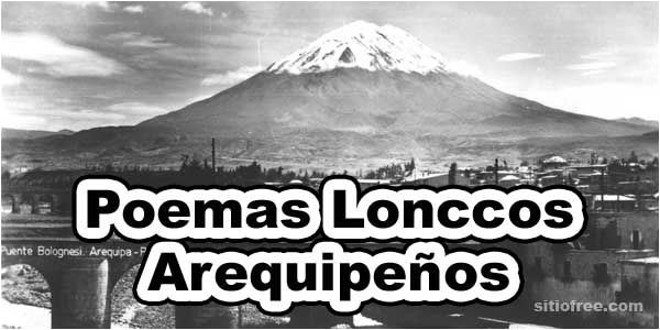 Poemas lonccos arequipeños